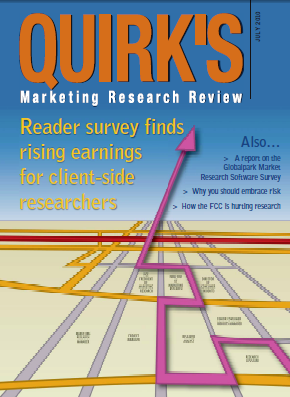 Quirk's Marketing Research Review, July 2010