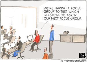 Marketing events are not focus groups